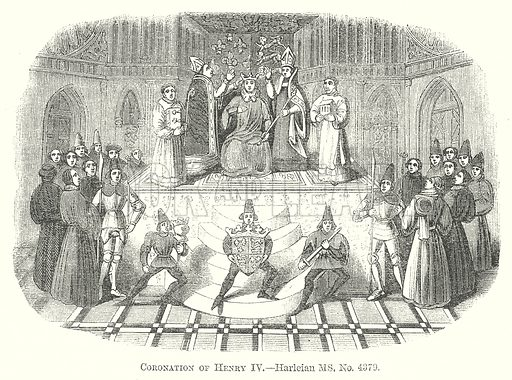 Coronation of Henry IV. Illustration for The Pictorial History of England (W & R Chambers, 1858).