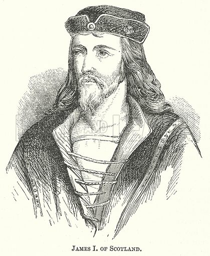 James I of Scotland. Illustration for The Pictorial History of England (W & R Chambers, 1858).
