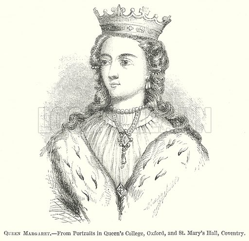 Queen Margaret. Illustration for The Pictorial History of England (W & R Chambers, 1858).