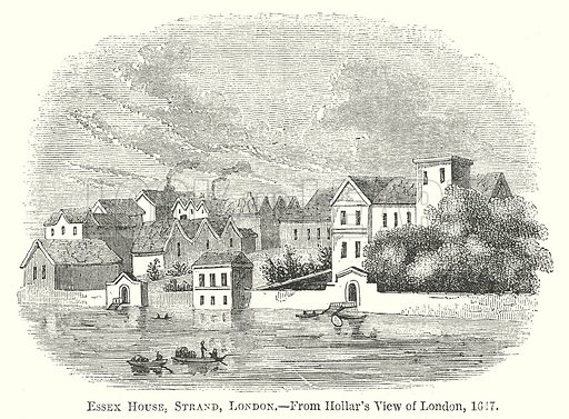 Essex House, Strand, London. Illustration for The Pictorial History of England (W & R Chambers, 1858).