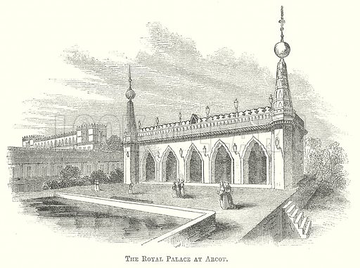 The Royal Palace at Arcot. Illustration for The Pictorial History of England (W & R Chambers, 1858).