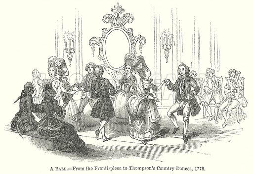 A Ball. Illustration for The Pictorial History of England (W & R Chambers, 1858).