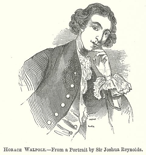 Horace Walpole. Illustration for The Pictorial History of England (W & R Chambers, 1858).