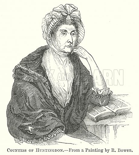 Countess of Huntingdon. Illustration for The Pictorial History of England (W & R Chambers, 1858).