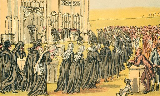 The Funeral of Syntax. Illustration for Doctor Syntax's Three Tours by William Combe (John Camden Hotten, c 1870).
