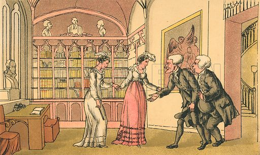 Introduction to Courtship. Illustration for Doctor Syntax's Three Tours by William Combe (John Camden Hotten, c 1870).
