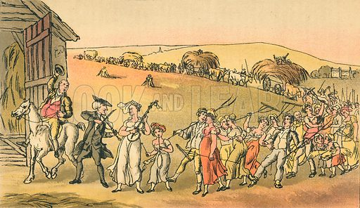 The Harvest Home. Illustration for Doctor Syntax's Three Tours by William Combe (John Camden Hotten, c 1870).