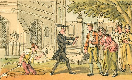 The Banns Forbidden. Illustration for Doctor Syntax's Three Tours by William Combe (John Camden Hotten, c 1870).