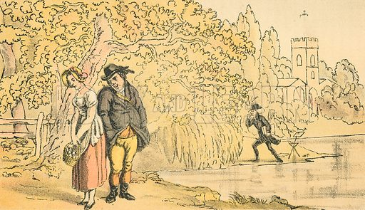 Dr Syntax Making a Discovery. Illustration for Doctor Syntax's Three Tours by William Combe (John Camden Hotten, c 1870).