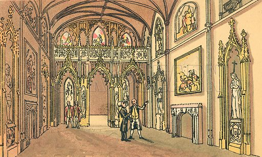 Dr Syntax Visits Eaton Hall, Cheshire. Illustration for Doctor Syntax's Three Tours by William Combe (John Camden Hotten, c 1870).