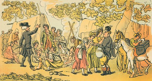 Dr Syntax and the Gypsies. Illustration for Doctor Syntax's Three Tours by William Combe (John Camden Hotten, c 1870).