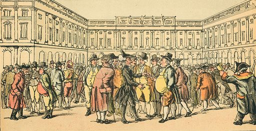 Dr Syntax at Liverpool. Illustration for Doctor Syntax's Three Tours by William Combe (John Camden Hotten, c 1870).