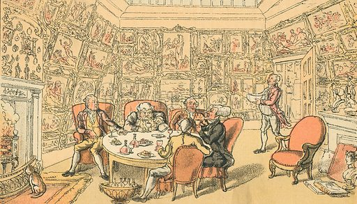Dr Syntax with My Lord. Illustration for Doctor Syntax's Three Tours by William Combe (John Camden Hotten, c 1870).