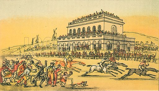 Dr Syntax Loses his Money at the Race-Ground at York. Illustration for Doctor Syntax's Three Tours by William Combe (John Camden Hotten, c 1870).