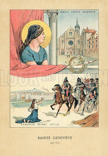 Saint Genevieve, picture, image, illustration