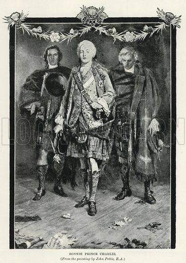 Bonnie Prince Charlie. Illustration for The Pageant of British History by J Edward Parrott (Nelson, 1909).