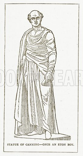 Statue of Canning – Once an Eton Boy. Illustration for Pictorial Records of Remarkable Events (James Sangster, c 1880).