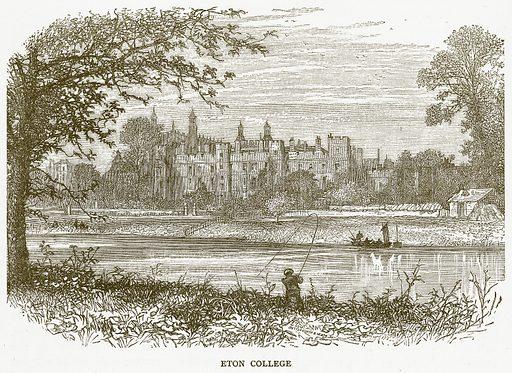 Eton College. Illustration for Pictorial Records of Remarkable Events (James Sangster, c 1880).