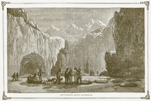 M'Clintock's Arctic Expedition. Illustration for Pictorial Records of Remarkable Events (James Sangster, c 1880).