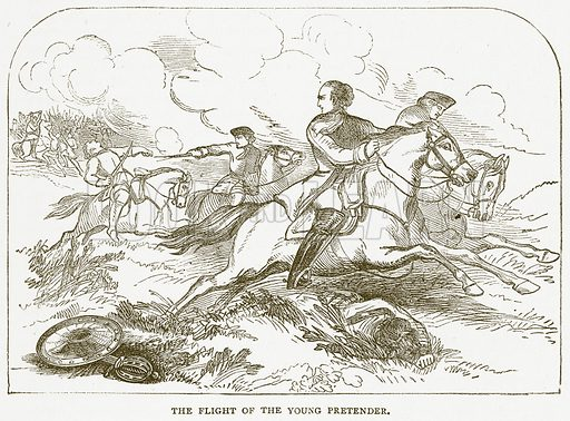 The Flight of the Young Pretender. Illustration for Pictorial Records of Remarkable Events (James Sangster, c 1880).