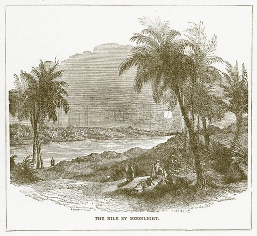 The Nile by Moonlight. Illustration for Pictorial Records of Remarkable Events (James Sangster, c 1880).