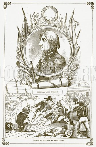 Nelson. Illustration for Pictorial Records of Remarkable Events (James Sangster, c 1880).