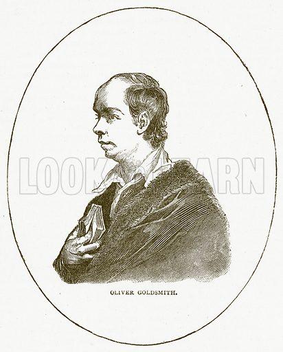 Oliver Goldsmith. Illustration for Pictorial Records of Remarkable Events (James Sangster, c 1880).