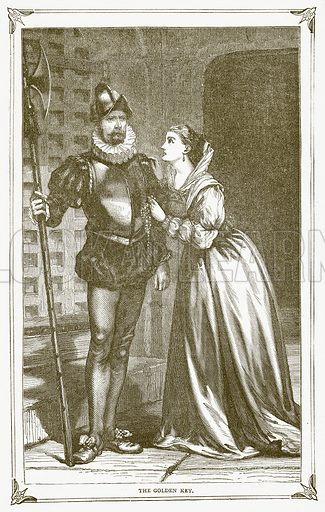 The Golden Key. Illustration for Pictorial Records of Remarkable Events (James Sangster, c 1880).