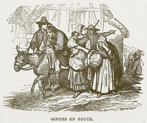 Gipsies en Route. Illustration for Pictorial Records of Remarkable Events (James Sangster, c 1880).