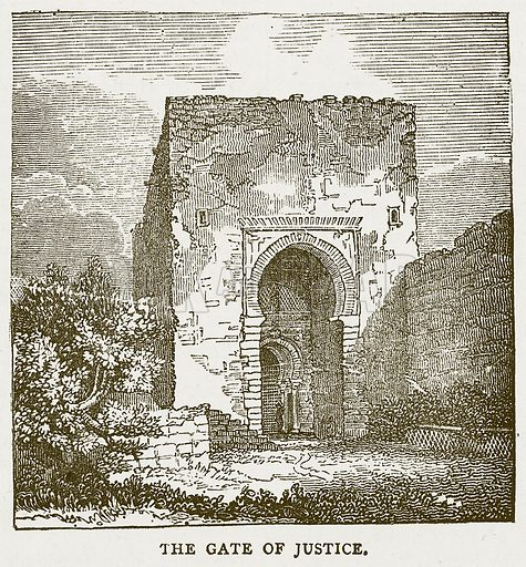 The Gate of Justice. Illustration for Pictorial Records of Remarkable Events (James Sangster, c 1880).