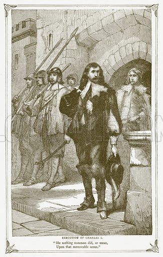 Execution of Charles I. Illustration for Pictorial Records of Remarkable Events (James Sangster, c 1880).