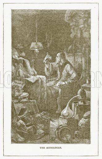 The Astrologer. Illustration for Pictorial Records of Remarkable Events (James Sangster, c 1880).