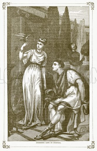Domestic Life in Pompeii. Illustration for Pictorial Records of Remarkable Events (James Sangster, c 1880).