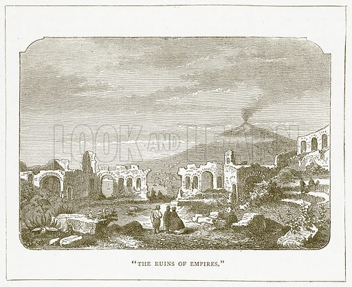"""The Ruins of Empires."" Illustration for Pictorial Records of Remarkable Events (James Sangster, c 1880)."
