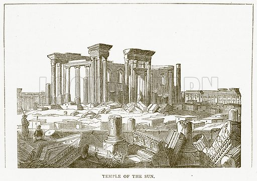 Temple of the Sun. Illustration for Pictorial Records of Remarkable Events (James Sangster, c 1880).
