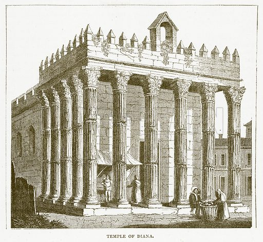 Temple of Diana. Illustration for Pictorial Records of Remarkable Events (James Sangster, c 1880).