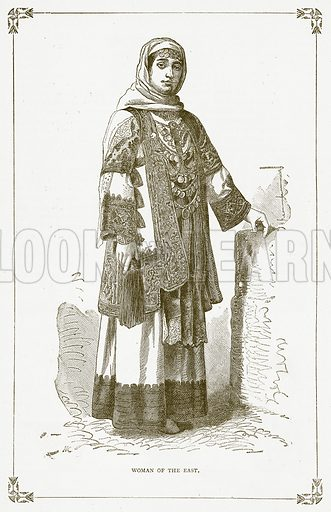 Woman of the East. Illustration for Pictorial Records of Remarkable Events (James Sangster, c 1880).