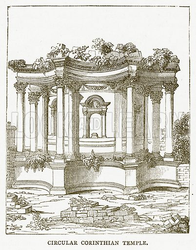 Circular Corinthian Temple. Illustration for Pictorial Records of Remarkable Events (James Sangster, c 1880).