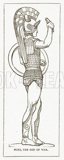 Mars, the God of War. Illustration for Pictorial Records of Remarkable Events (James Sangster, c 1880).