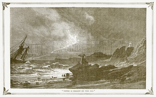 """There is Sorrow on the Sea."" Illustration for Pictorial Records of Remarkable Events (James Sangster, c 1880)."