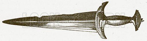 Sword. Illustration for Pictorial Records of Remarkable Events (James Sangster, c 1880).