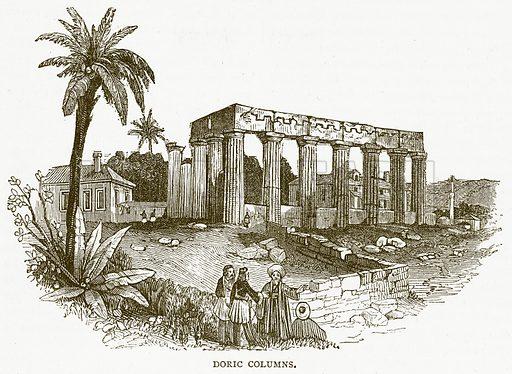 Doric Columns. Illustration for Pictorial Records of Remarkable Events (James Sangster, c 1880).