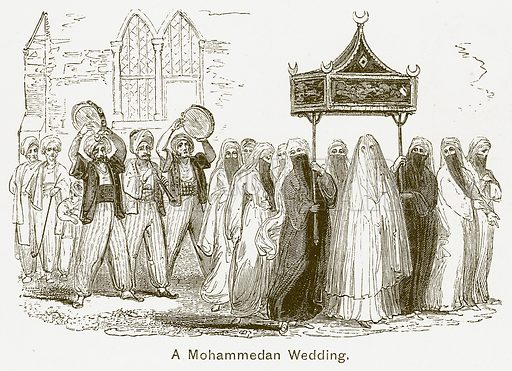 A Mohammedan Wedding. Illustration for The Children of India (Religious Tract Society, c 1875).