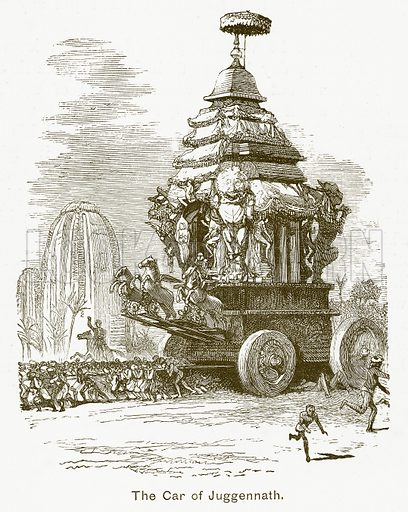 The Car of Juggennath. Illustration for The Children of India (Religious Tract Society, c 1875).