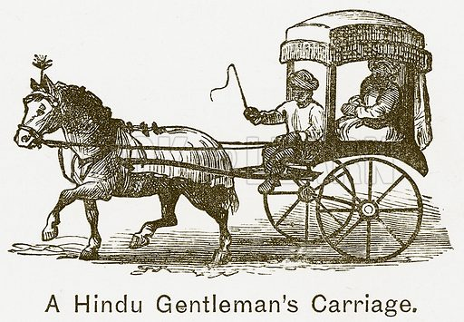A Hindu Gentleman's Carriage. Illustration for The Children of India (Religious Tract Society, c 1875).