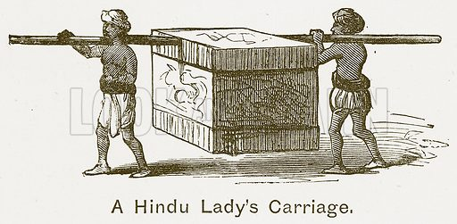 A Hindu Lady's Carriage. Illustration for The Children of India (Religious Tract Society, c 1875).