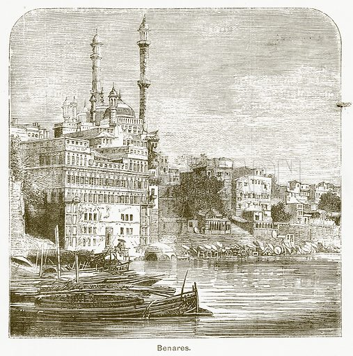 Benares. Illustration for The Children of India (Religious Tract Society, c 1875).