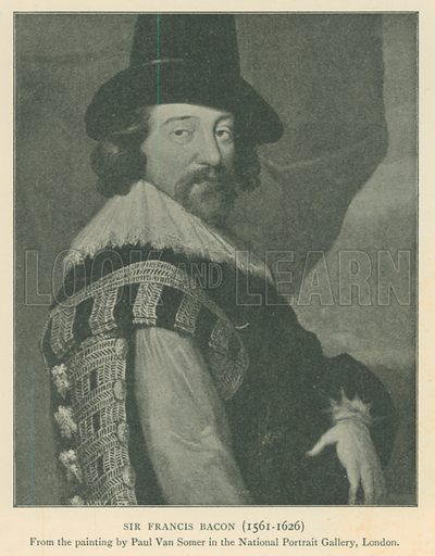 Sir Francis Bacon (1561–1626). Illustration for London in the Time of the Tudors by Sir Walter Besant (A & C Black, 1904).