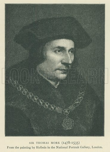 Sir Thomas More (1478–1535). Illustration for London in the Time of the Tudors by Sir Walter Besant (A & C Black, 1904).