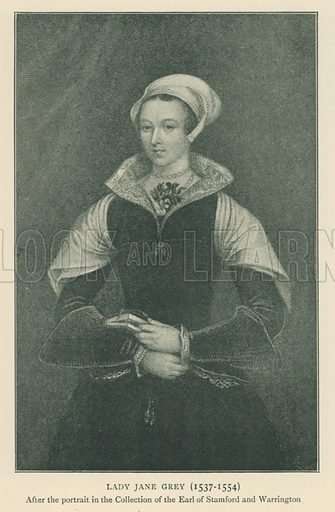 Lady Jane Grey (1537–1554). Illustration for London in the Time of the Tudors by Sir Walter Besant (A & C Black, 1904).
